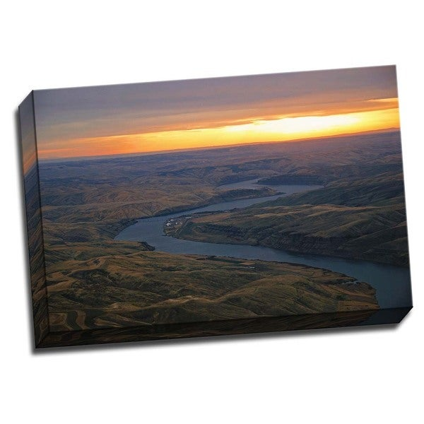 Shop Picture It On Canvas Snake River Ii 24 Inch X 16 Inch Wrapped