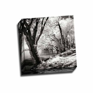 Picture It on Canvas 'Spring on the River Square II' 12-inch x 12-inch Wrapped Canvas Wall Art
