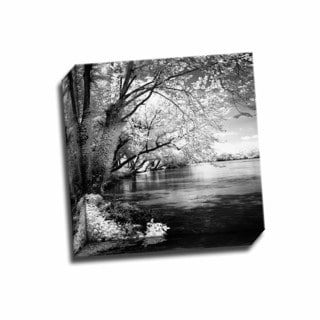 Picture It on Canvas 'Spring on the River Square I' 12-inch x 12-inch Wrapped Canvas Artwork
