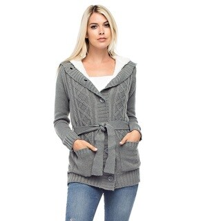 Ashley Women's Grey Hooded Sweater