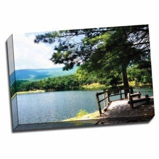 Picture It on Canvas 'Douthat Lake II' 24x16 Wrapped Canvas Wall Art