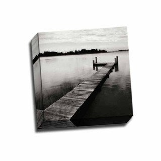 Picture It on Canvas 'Lonely Dock VI' 12-inch x 12-inch Wrapped Canvas Artwork