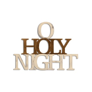Letter2Word 'O Holy Night' PVC Foam Board Hand-painted Seasonal Decor