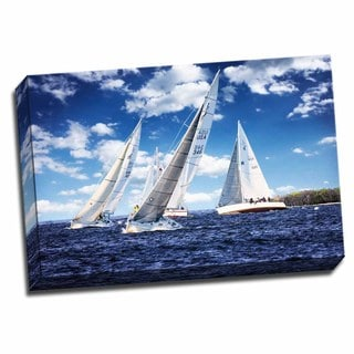 Picture It on Canvas 'Day Sailing II' 24-inch x 16-inch Wrapped Canvas