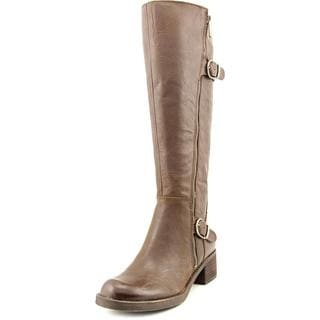 Lucky Brand Women's Hoxy Brown Leather Boots