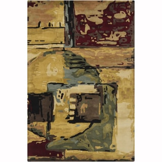 Artist's Loom Hand-Tufted Contemporary Abstract Pattern New Zealand Wool Rug (9'x13')