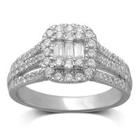 Unending Love 14k White Gold 3/4 ctw Diamond ( I-J Color, I1-I2 Clarity ) Ring