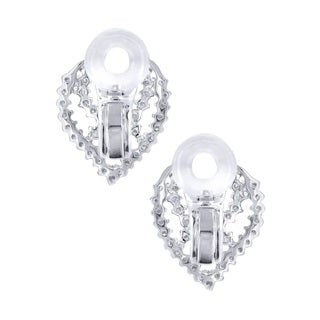 14K White Gold 1.35ct TDW Drop Shaped Diamond Earrings (H-I, I1-I2)