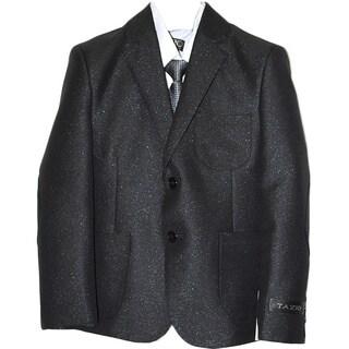 Tazio Boys' Black Poly/Rayon 5-piece Suit Set