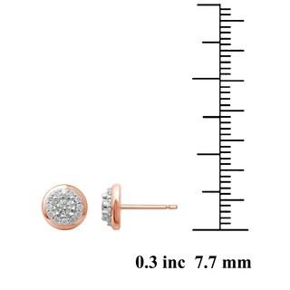 Unending Love 10k Rose Gold 1/4ct TDW Diamond Stud Earrings (IJ I2-I3)