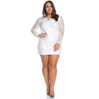 Tabitha Lace Sleeved Dress|https://ak1.ostkcdn.com/images/products/13222731/P19940375.jpg?impolicy=medium
