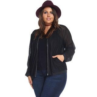 Ariana Mesh Bomber Jacket
