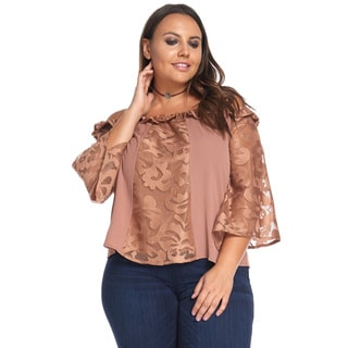 Fiona Ruffle And Lace Top