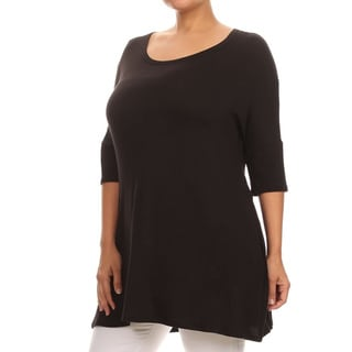 Women's Rayon/Spandex Crochet Trim Tunic