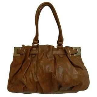 Donna Bella Jessica Brown Faux Leather Shoulder Bag