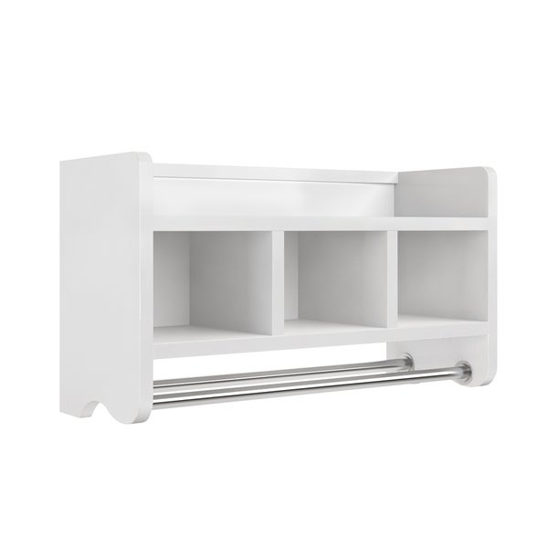 Bathroom towel holder wall mount storage shelf organizer - Bathroom storage wall cabinets white ...
