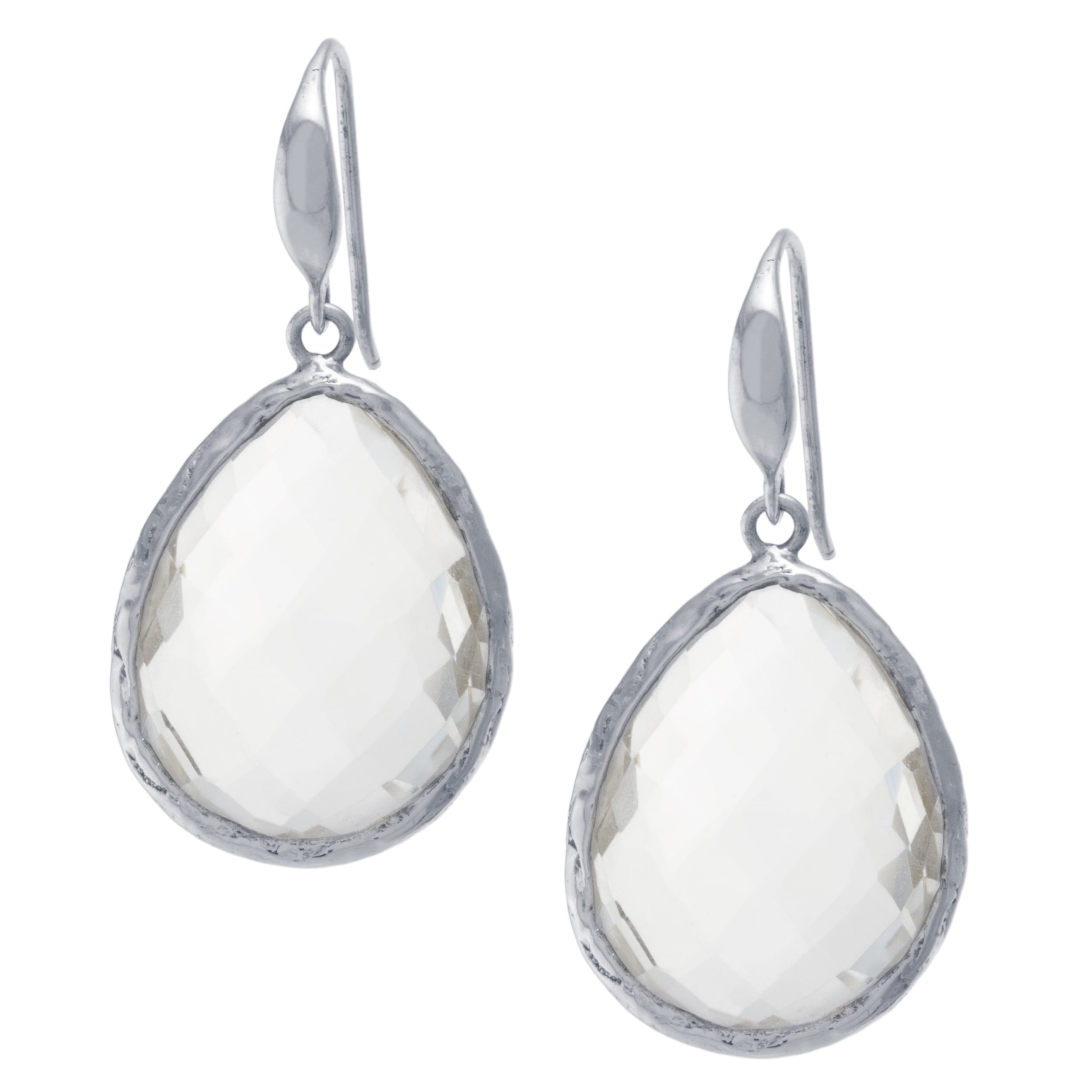 Athra Luxe Collection Sterling Silver Rock Crystal Quartz...