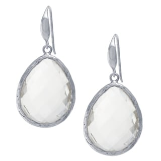 Sterling Silver Rock Crystal Quartz Drop Earrings