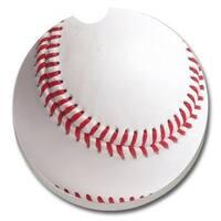 Counterart Absorbent Stone Car Coaster Baseball  (Set of 2)