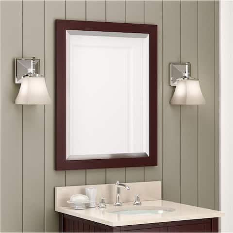 Alaterre 24-inch Espresso Wood Framed Bath Vanity Mirror