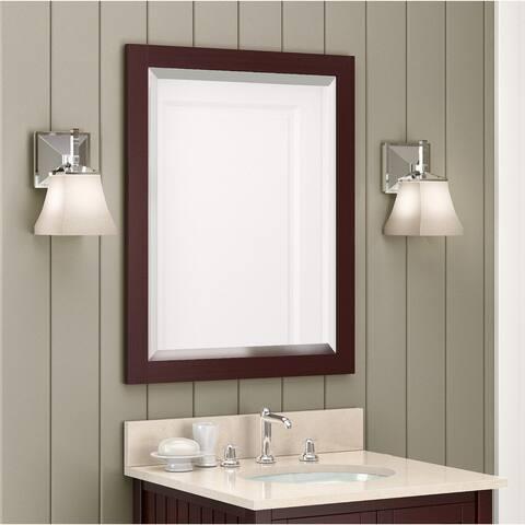 Alaterre 24-inch Espresso Bath Vanity Mirror