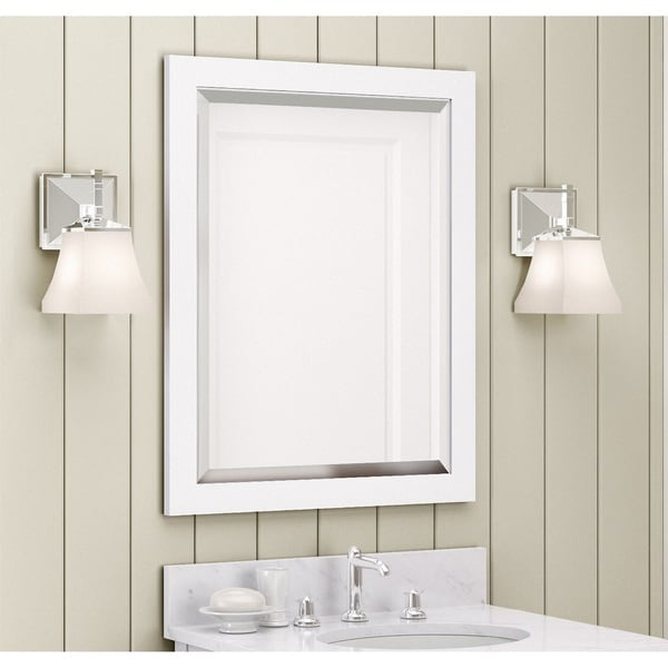 Alaterre 24-inch White Bath Vanity Mirror
