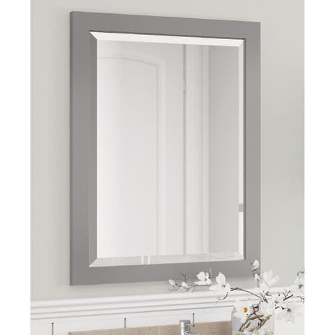 Alaterre 24-inch Dove Gray Bath Wood Frame Vanity Mirror