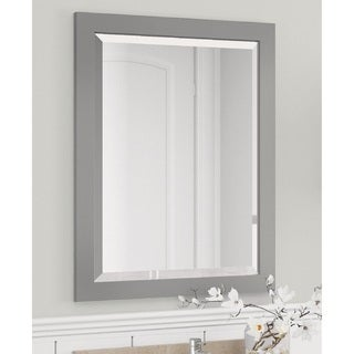 Alaterre 24-inch Dove Gray Bath Vanity Mirror