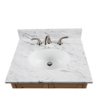 Alaterre 25-inch W Marble Sink Top for Bath Vanity (2 options available)