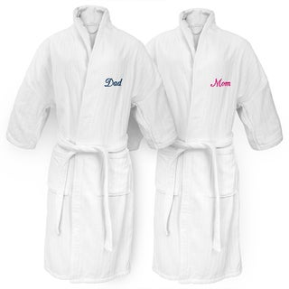Mom or Dad Embroidered White Railroad Robe
