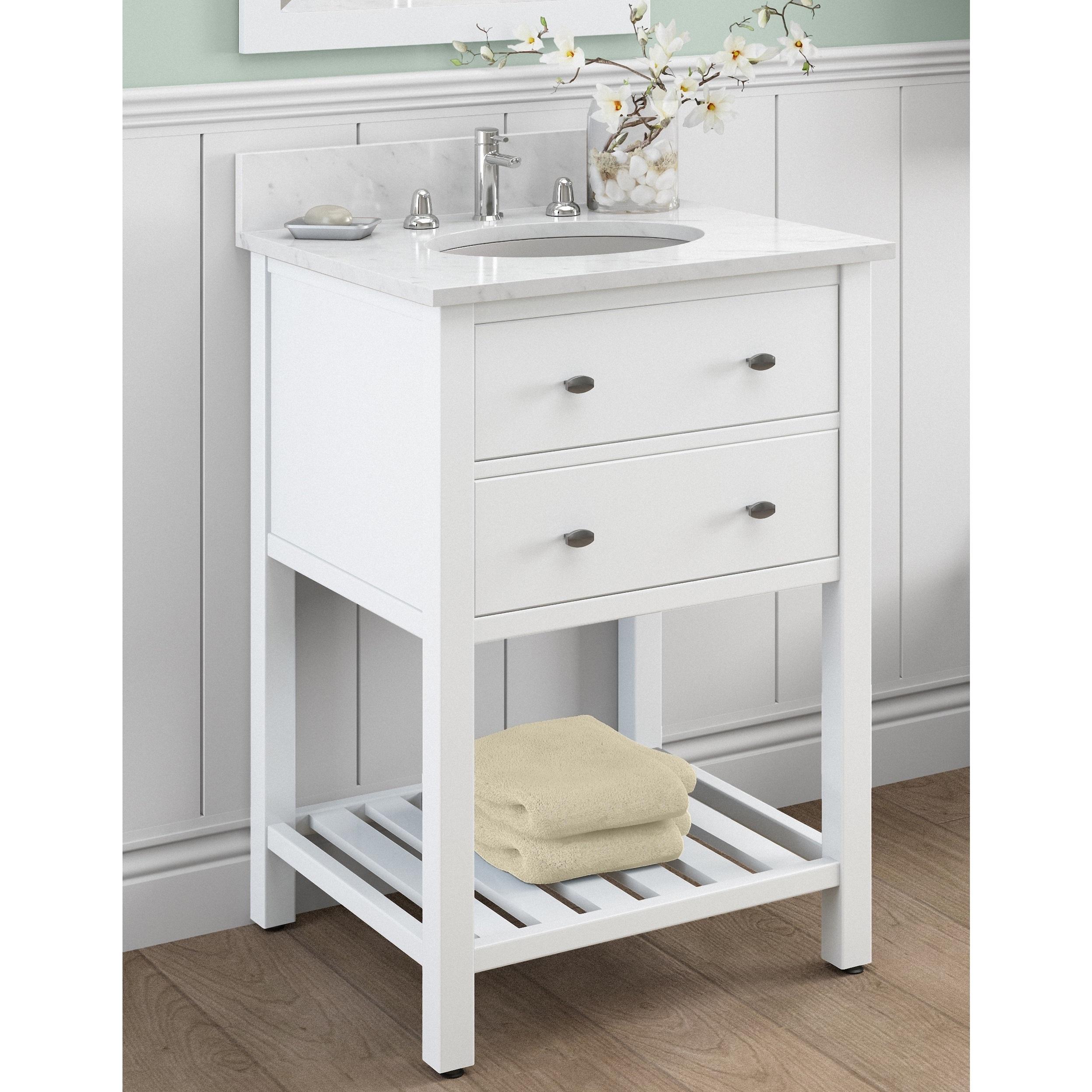 Buy White Bathroom Vanities & Vanity Cabinets Online at Overstock ...