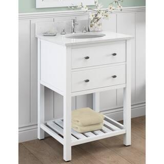 Alaterre Harrison 24 Inch Wood Single Sink Bath Vanity