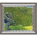 Gustav Klimt 'Golden Apple Tree' (Luxury Line) Hand Painted Framed Oil Reproduction on Canvas