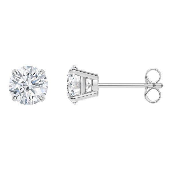 34abe0e2bee09 Shop 14K White Gold Diamond Stud Earrings - Round 1/3 CTTW - IGI ...