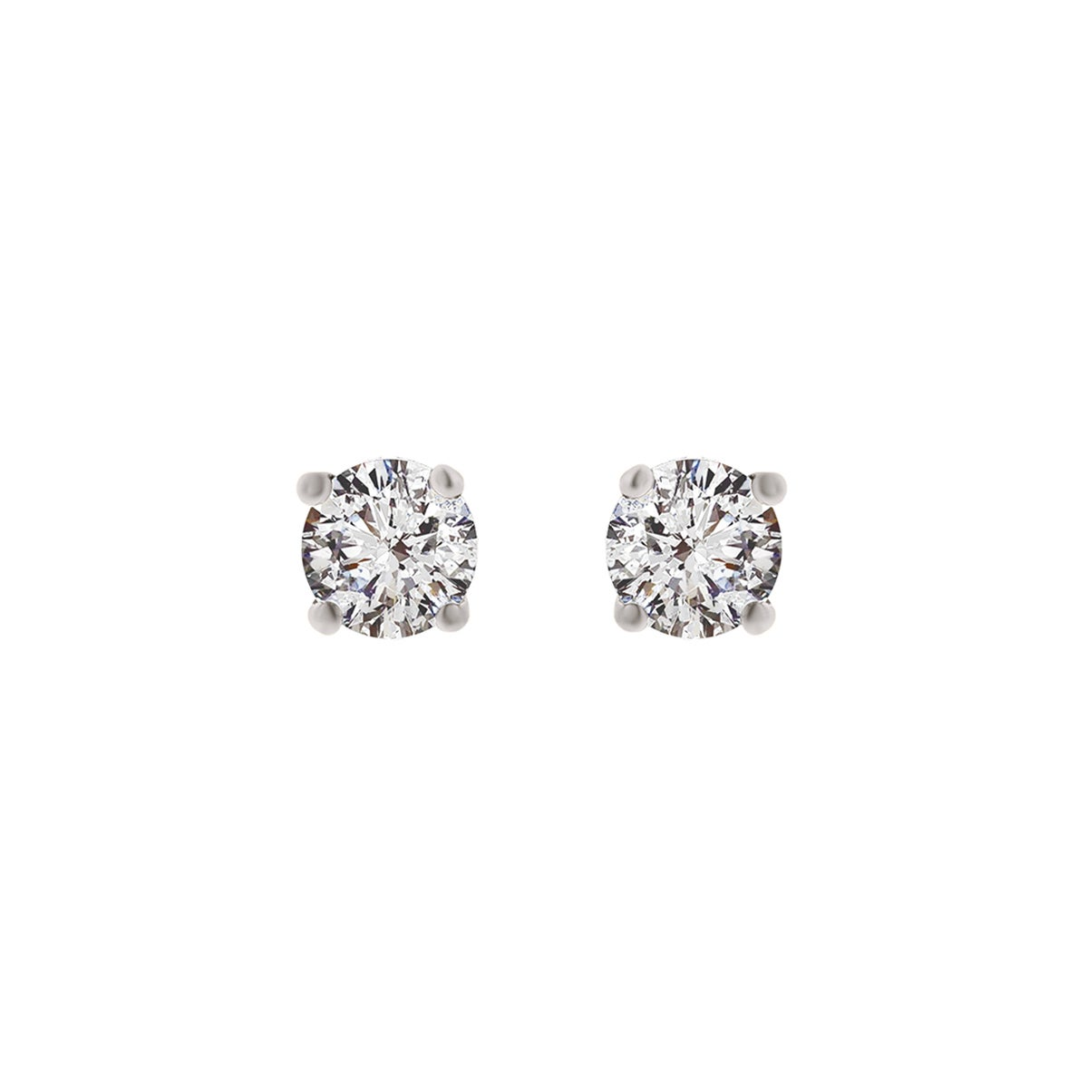 8459e6d55f894 Details about 14K White Gold Diamond Stud Earrings - Round 3/4 CTTW - IGI  Certified