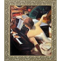 Giovanni Boldini 'The Mondona Singer, 1884' Hand Painted Framed Oil Reproduction on Canvas