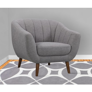 Armen Living Javeline Grey Linen Mid-century Contemporary Chair