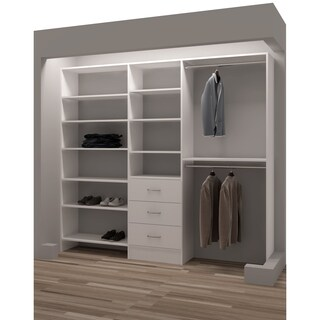 TidySquares White Wood 93-inch Reachin Closet Organizer Design 2