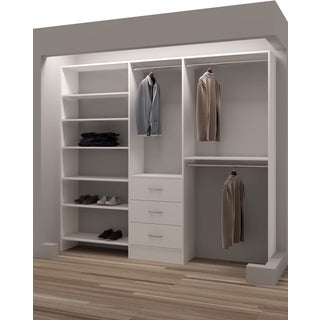 TidySquares White Wood 93-inch Reach-in Closet Organizer