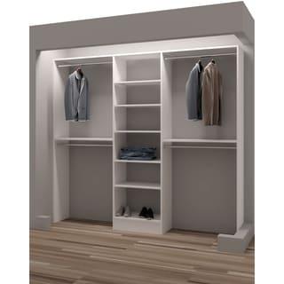 tidysquares classic white wood 93inch reachin closet organizer