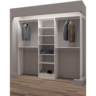 TidySquares Classic White Wood 93-inch Reach-in Closet Organizer (Option:  White