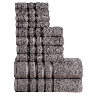 Panache Home Collection 100-percent Combed Cotton 10-piece Towel Set