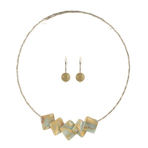 Terra Jasper Necklace and Earring Set
