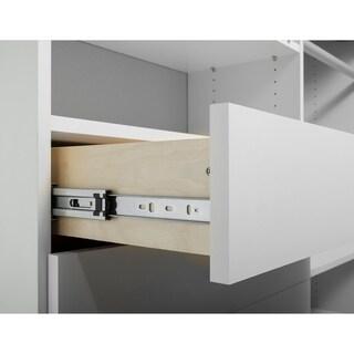 TidySquares Classic White Wood 59.5-inch x 68.25-inch Corner Walk-in Closet Organizer