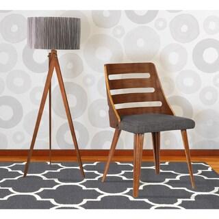 Armen Living Storm Walnut Wood Mid-Century Dining Chair