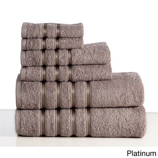 Panache Home Collection 100-percent Combed Cotton 6-piece Towel Set