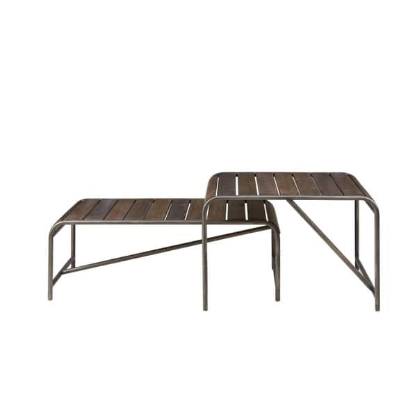 Wondrous Shop Everett Reclaimed Wood Coffee Table With Gunmetal Frame Gmtry Best Dining Table And Chair Ideas Images Gmtryco