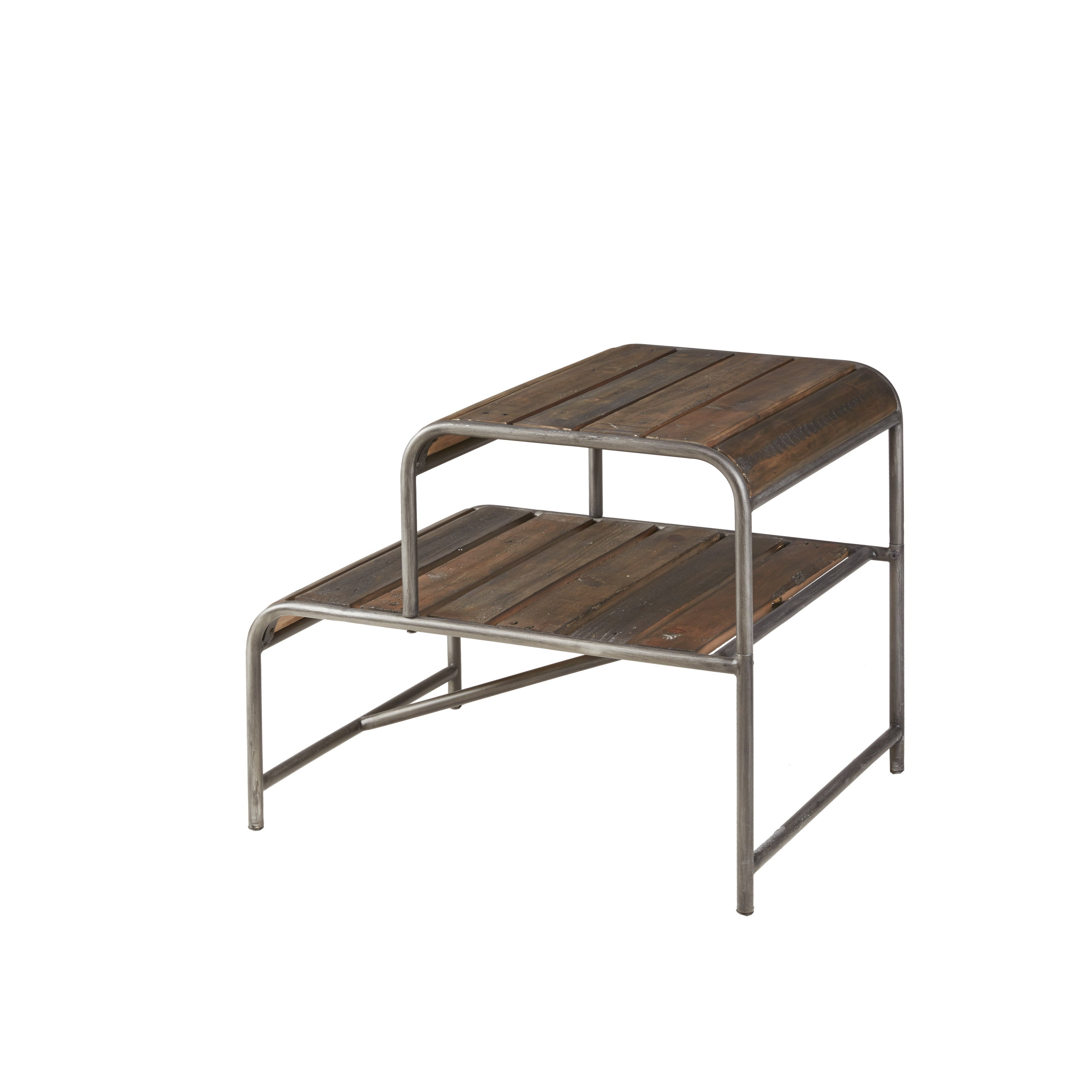Outstanding Everett Reclaimed Wood End Table With Gunmetal Frame Gmtry Best Dining Table And Chair Ideas Images Gmtryco