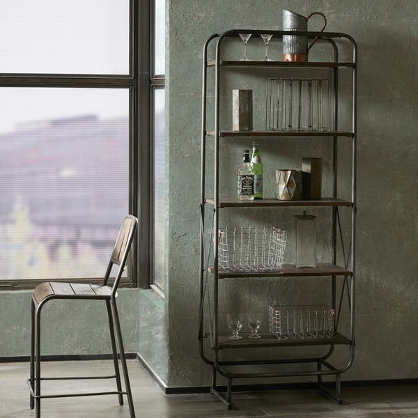 Sensational Shop Everett Reclaimed Wood 72 Storage Shelf With Gunmetal Gmtry Best Dining Table And Chair Ideas Images Gmtryco