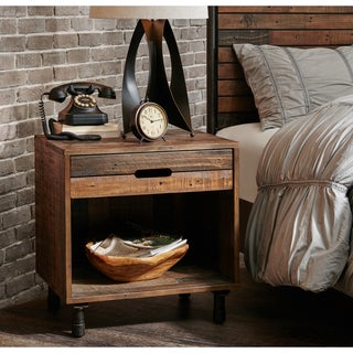Pine Canopy Everett Wood and Metal Night Stand